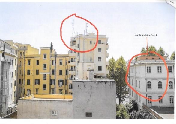 Roma: antenne vicine alla scuola