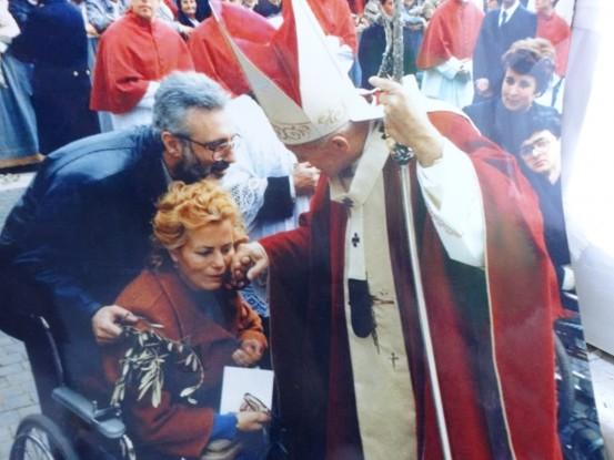 L'incontro con Papa Wojtyla