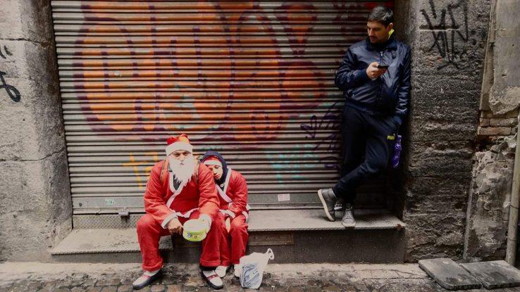 Babbo Natale e famiglia