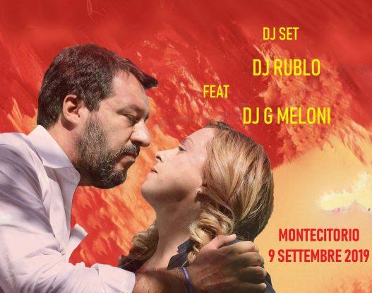 Montecitorio, recensione dj-set di Dj Rublo e Baby G. Meloni contro governo Conte 2
