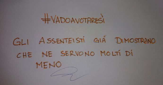 """#VadoaVotareSì """"Tu parlamentare sei licenziato"""""""