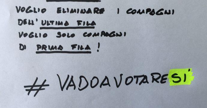 #VadoaVotareSi, voglio solo compagni di prima fila
