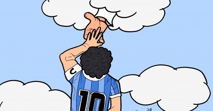 Maradona in cielo: la Mano de Dios