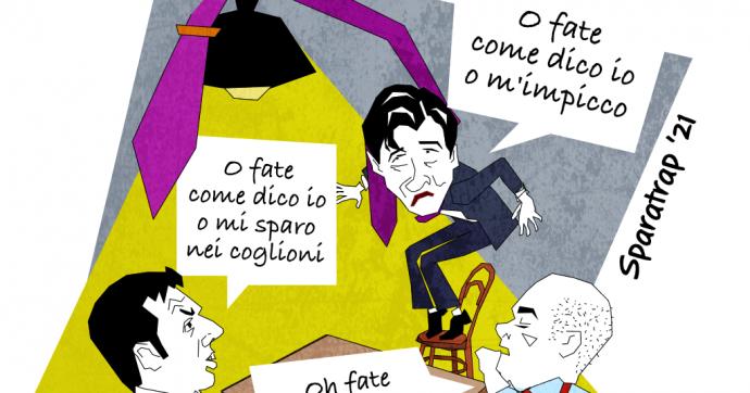 Governo Conte, stallo aggressivo-passivo [Vignetta]