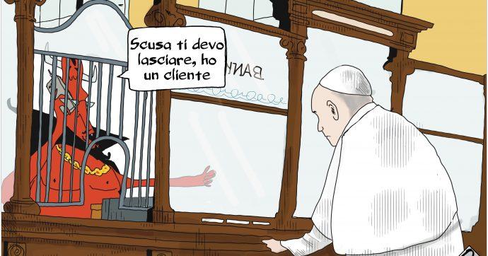 Vaticano: la banca del diavolo [Vignetta]