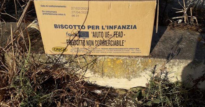 Alimenti dell'Unione Europea destinati ai bisognosi? Cercateli nella spazzatura!